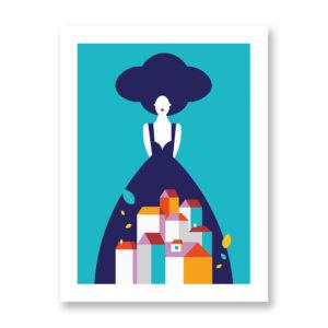 Autumn Poetry - illustrazione di Ramona Iurato, Stampa Fine Art
