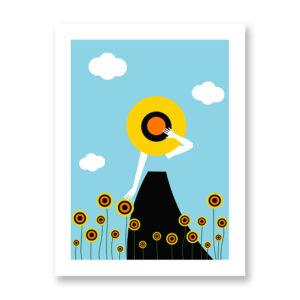 Sunflowers - illustrazione di Ramona Iurato, Stampa Fine Art
