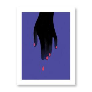 Violence Against Women - illustrazione di Chiara Ghigliazza, Stampa Fine Art