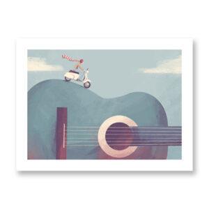 Giro Di Do - illustrazione di Federica Fabbian, Stampa Fine Art