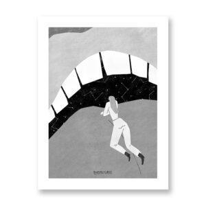 Bacio Stellare - illustrazione di Fernando Cobelo, Stampa Fine Art