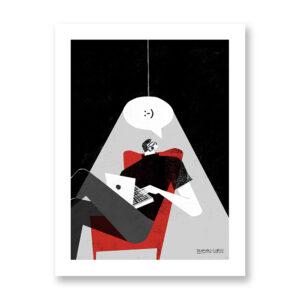 Communication - illustrazione di Fernando Cobelo, Stampa Fine Art