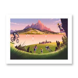 Trentino Summer - illustrazione di Francesco Bongiorni, Stampa Fine Art